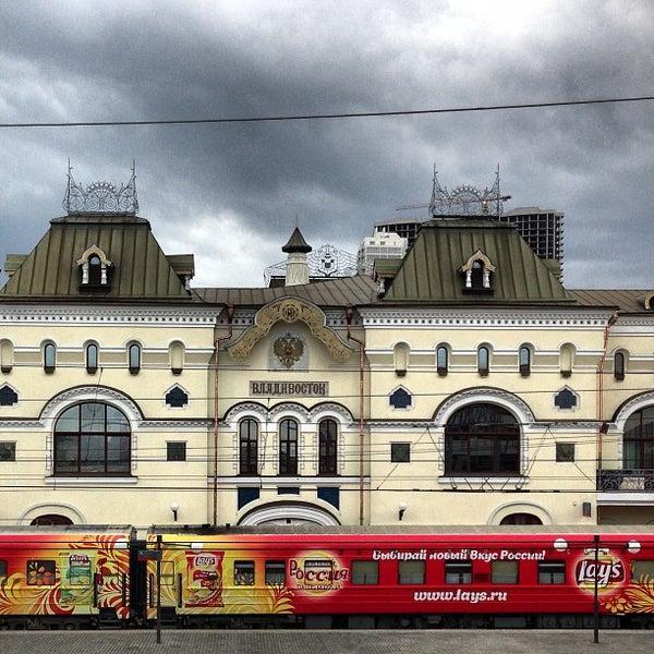 Photo taken at Железнодорожный вокзал Владивостока / Vladivostok Railway Station by Anton A. on 5/22/2013