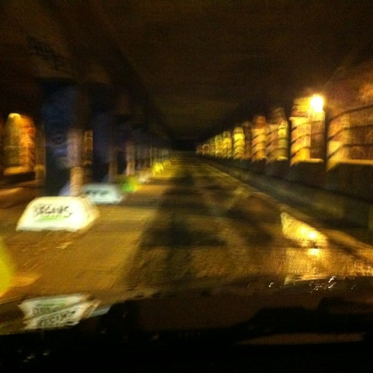 Photo taken at Krog Street Tunnel by Eve P. on 11/15/2012