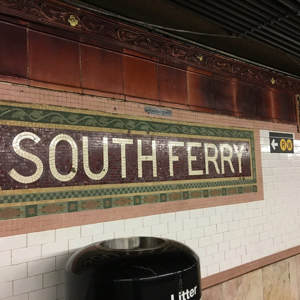 Photo taken at MTA Subway - South Ferry (1) by Arina on 5/11/2017