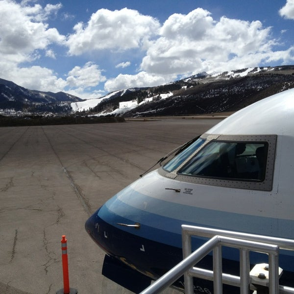 Photo taken at Aspen/Pitkin County Airport (ASE) by Mando on 4/3/2013