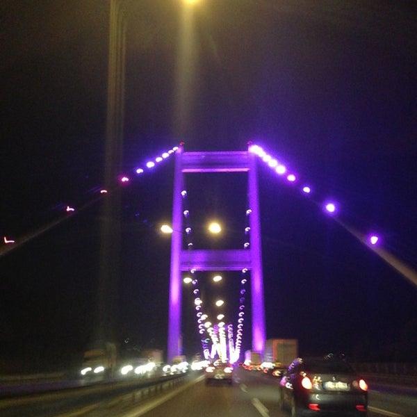 Photo taken at Fatih Sultan Mehmet Bridge by Volkan 6. on 5/21/2013