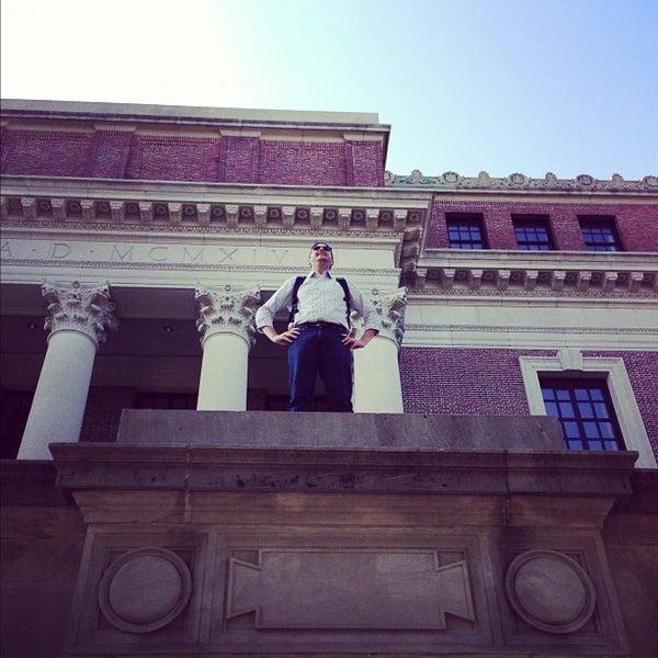 Photo taken at Widener Library by Matthew W. on 9/27/2012