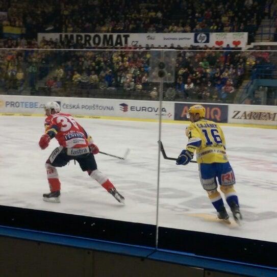 Photo taken at Zimní stadion Luďka Čajky by Miroslav I. on 12/28/2014