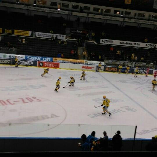 Photo taken at Zimní stadion Luďka Čajky by Miroslav I. on 3/13/2016