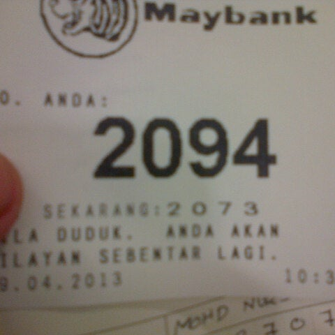 Photo taken at Maybank by DJ S. on 4/29/2013