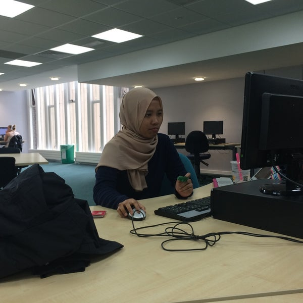 Photo taken at Northumbria University Library by Khairunnisa A. on 6/20/2016