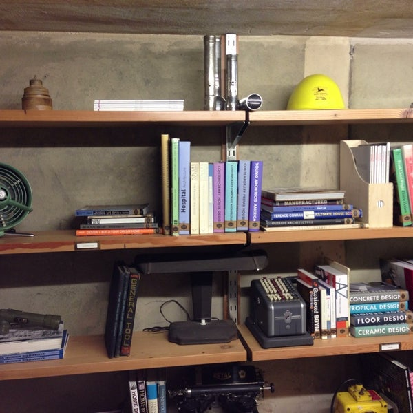 Don't miss the library tucked in the vault beneath the back stairs. A day's worth of well-curated Design titles.