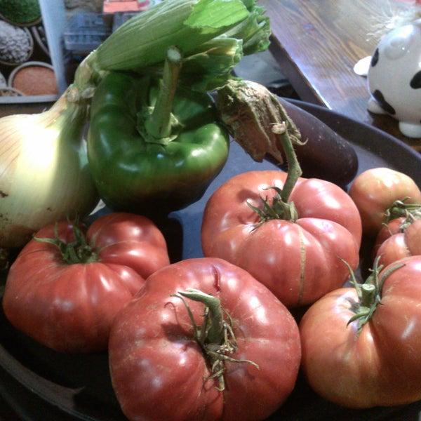 Tomatitos ecológicos del huerto