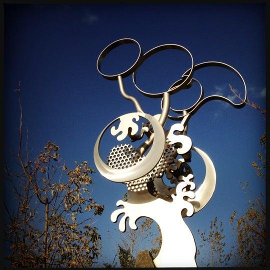 Photo taken at Big Stone Mini Golf & Sculpture Garden by Chuck O. on 10/14/2012