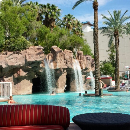 Photo taken at Flamingo GO Pool by Robbie D. on 8/23/2013