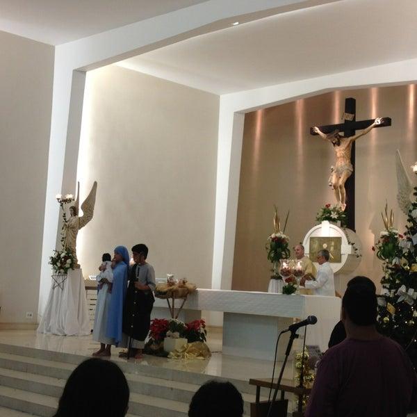 Photo taken at Paróquia Santa Mônica by Victor B. on 12/25/2012