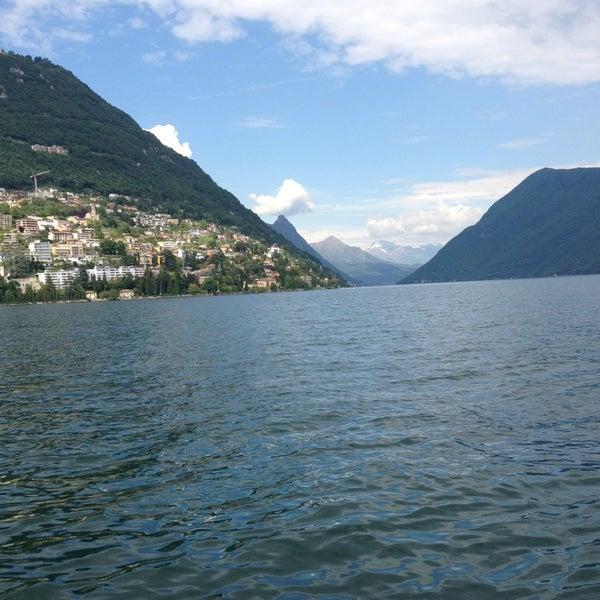 Photo taken at Lago di Lugano by Riethmann C. on 6/4/2013
