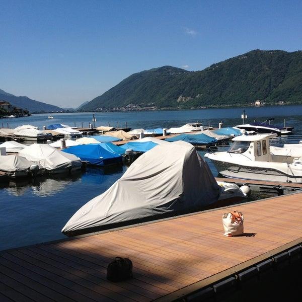 Photo taken at Lago di Lugano by Riethmann C. on 7/4/2013