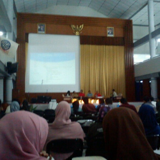 Photo taken at Gedung Serba Guna (GSG) by Asri K. on 12/3/2012