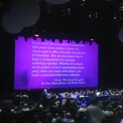 Photo taken at Blue Man Group at Universal CityWalk by Will O. on 9/21/2012