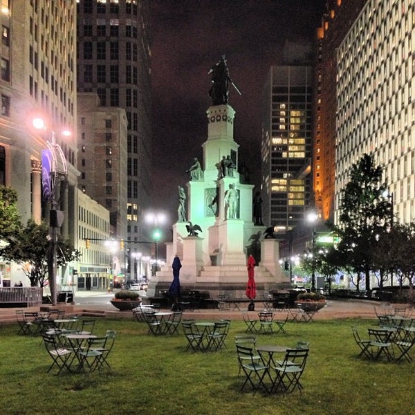 Photo taken at Campus Martius by Detroiting on 12/9/2012