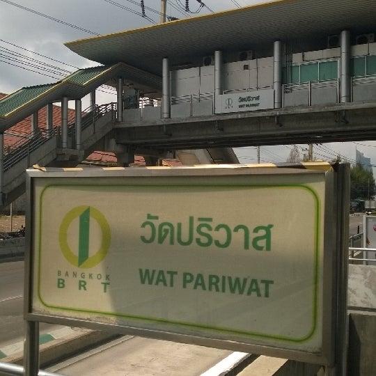 Photo taken at BRT วัดปริวาส (Wat Pariwat) by Ramberry on 2/17/2014
