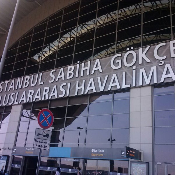 Photo taken at Istanbul Sabiha Gökçen International Airport (SAW) by Tugce A. on 7/8/2013