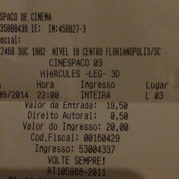Photo taken at Cinespaço Beiramar by Israel M. on 9/9/2014