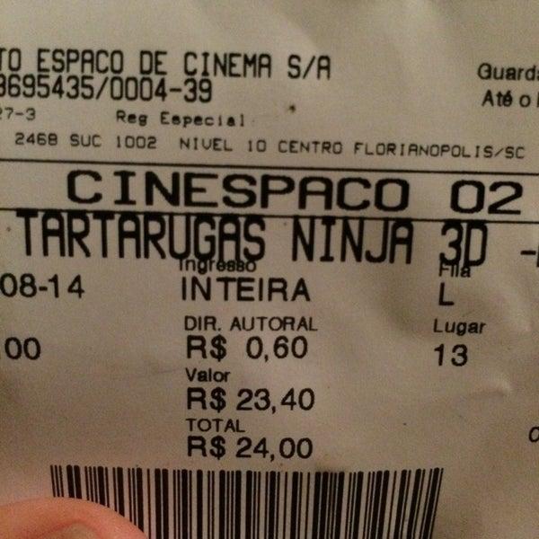 Photo taken at Cinespaço Beiramar by Israel M. on 8/18/2014