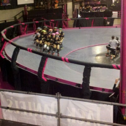 Photo taken at Doll Factory (L.A. Derby Dolls) by Jennifer A. on 2/10/2013
