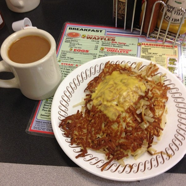 Photo taken at Waffle House by Russell J. on 11/16/2012