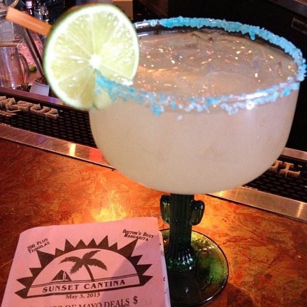Photo taken at Sunset Cantina by BostonTweet on 5/5/2013