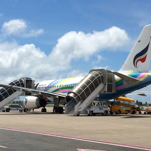 Photo taken at Bangkok Airways PG 712 by Ittey I. on 6/5/2014