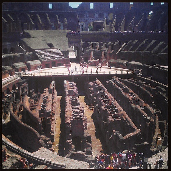 Photo taken at Piazza del Colosseo by Duran T. on 6/26/2013