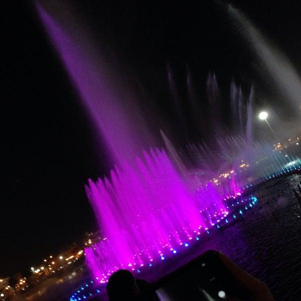 Photo taken at King Abdullah Park by Lamya i. on 10/19/2013