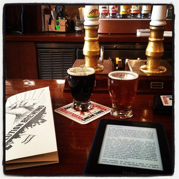 Photo taken at Revolution Brewing by Evan on 4/3/2013
