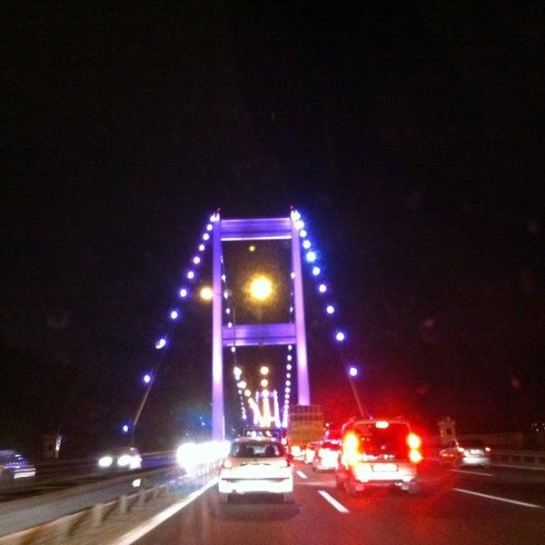 Photo taken at Fatih Sultan Mehmet Bridge by EsenGül T. on 7/21/2013
