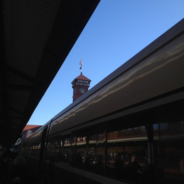 Photo taken at Union Station Amtrak (PDX) by Ben H. on 10/21/2013