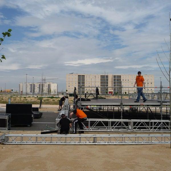 Un gran escenario de 8x10 metros para albergar las actuaciones de los #VFestejos de Arcosur del 21 al 23 de junio de 2013