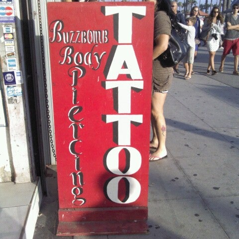 Buzzbomb tattoo tattoo parlor in venice beach for The order tattoo los angeles
