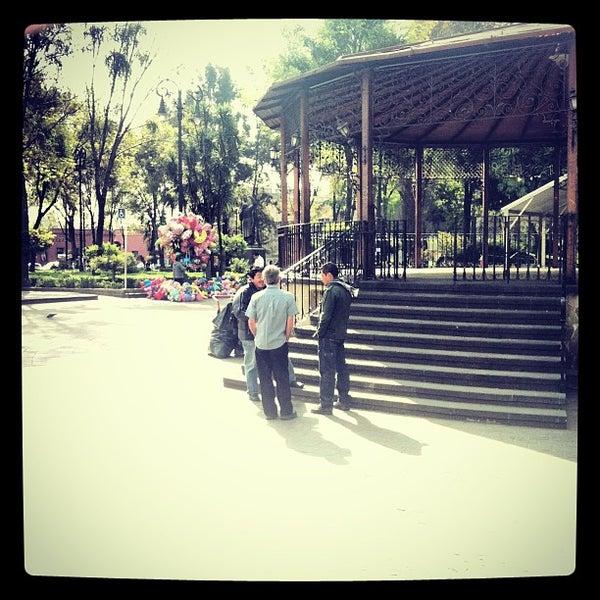 Photo taken at Jardín Hidalgo by Jacqueline S. on 1/17/2013