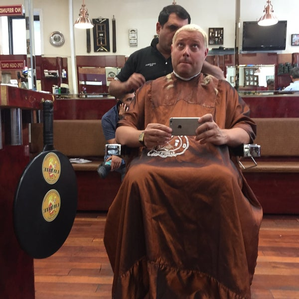 Photo taken at Manhattan Barber Shop by Seth F. on 7/17/2017