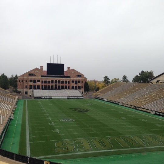 Photo taken at Folsom Field by Jonathan on 10/13/2012