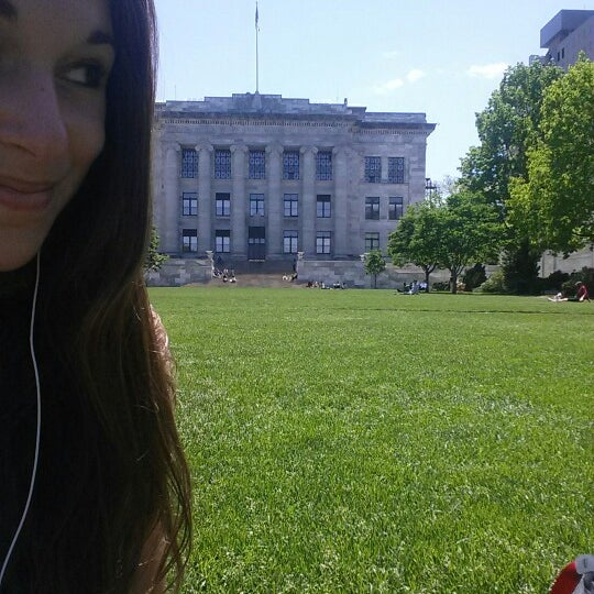 Photo taken at Harvard Medical School Quadrangle by Becka S. on 5/21/2014