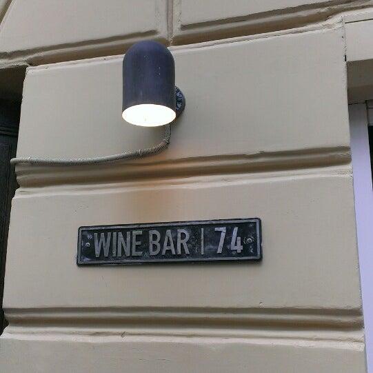 Снимок сделан в Винный бар «74» пользователем Anastasiya K. 9/28/2014
