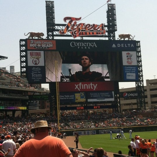 Photo taken at Comerica Park by Mel S. on 6/23/2013