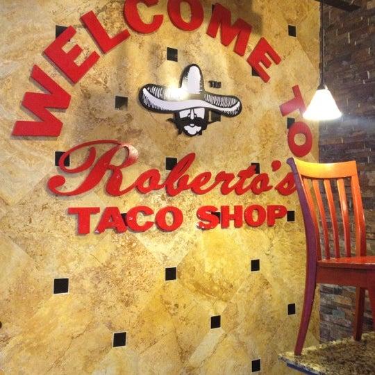 Photo taken at Roberto's Taco Shop by Yani B. on 5/12/2012