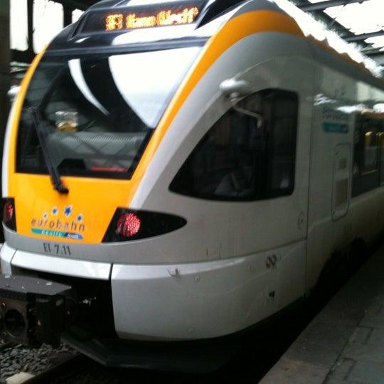 Photo taken at Duisburg Hauptbahnhof by Ilya Z. on 5/5/2012