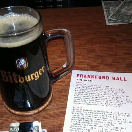 Photo taken at Frankford Hall by Vince on 1/2/2012