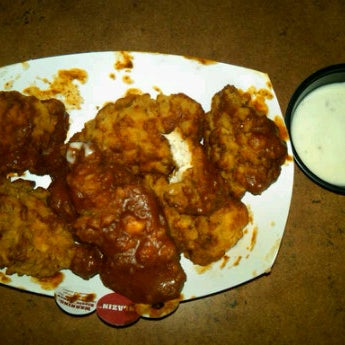 The Blazin' wings will melt your face off!!