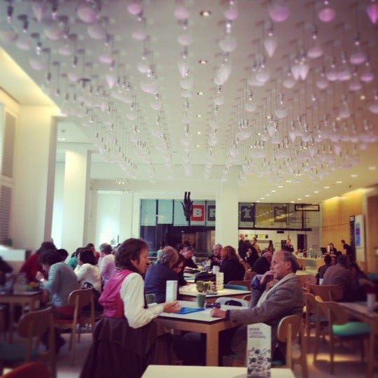 Photo taken at Wellcome Café (Benugo) by London L. on 4/21/2012