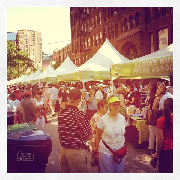 Photo taken at Printers Row Lit Fest by Abhay S. on 6/9/2012