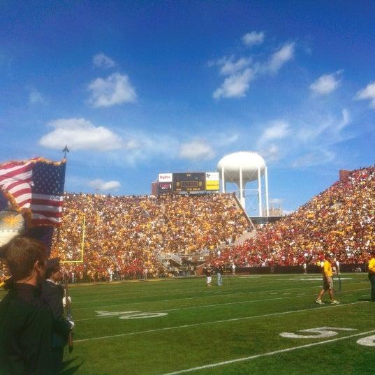 Photo taken at Kinnick Stadium by Easten on 9/8/2012