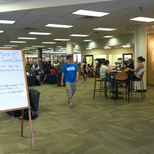 Photo taken at Carrier Library by Brendan V. on 3/14/2012