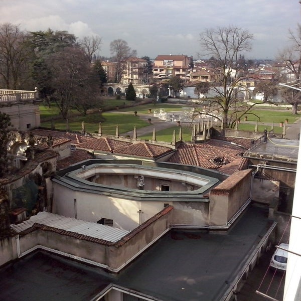 Photo taken at Villa Visconti Borromeo Litta by Francesco L. on 2/27/2014
